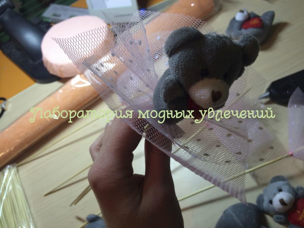 схема изготовления букета из игрушек